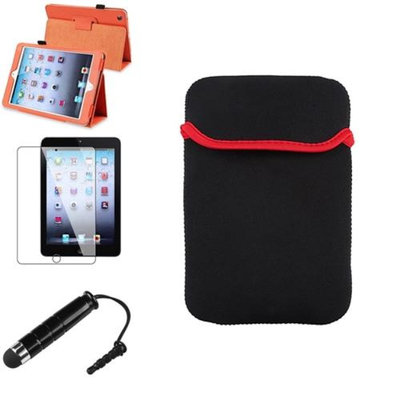 Insten iPad Mini 3/2/1 Case, by INSTEN Orange Leather Case Stand Cover+Stylus/Pouch for iPad Mini 3 2 1