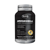 Orovo Xpi Supplements Myoswell Advanced Creatine & Arginine Complex - 180 Cap - Creatine Supplement - Increase Muscle Power & Strength