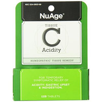 Hylands Homeopathic Hyland's NuAge Tissue Salts C Acidity Remedy, 125 Count