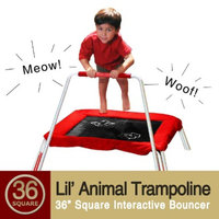 Skywalker Trampoline Skywalker Square Lil' Animals Kids Trampoline with Bar - Red (36