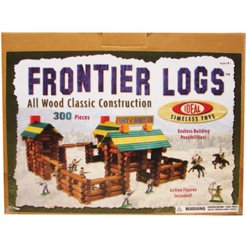 POOF-Slinky 300L Ideal Frontier Logs Classic All Wood Construction Set