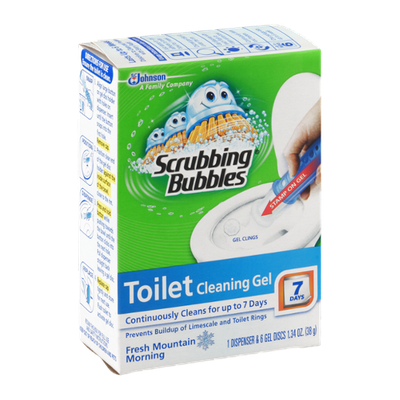 Scrubbing Bubbles Toilet Cleaning Gel Fresh Mountain Morning - 6 CT