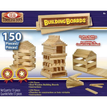POOF-Slinky 89PLBL Ideal Building Boards Wooden Construction Set