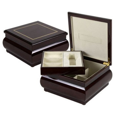 Quality Importers Heidelberg Jewelry/Watch Box - Mahogany - Jewelry, Watch