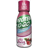 Pro Balance LLC Protein to Go Wild Berry Caffeinated Protein Shot