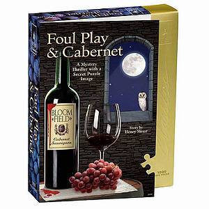 BePuzzled Foul Play and Cabernet Murder Mystery Jigsaw Puzzle 1000 Pcs Ages 12+