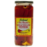 Roland Fire Roasted Red and Yellow Peppers - 1 jar - 16 fl oz