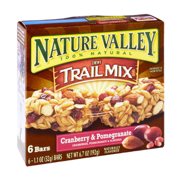Nature Valley 100% Natural Cranberry & Pomegranate Chewy Trail Mix Bars