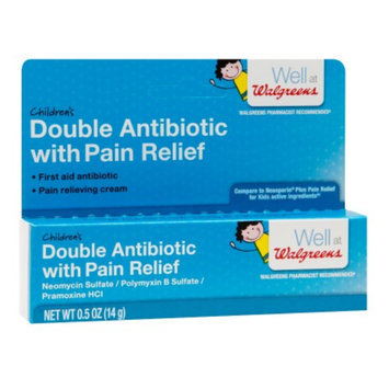 Walgreens Double Antibiotic with Pain Relief Cream, .5 oz
