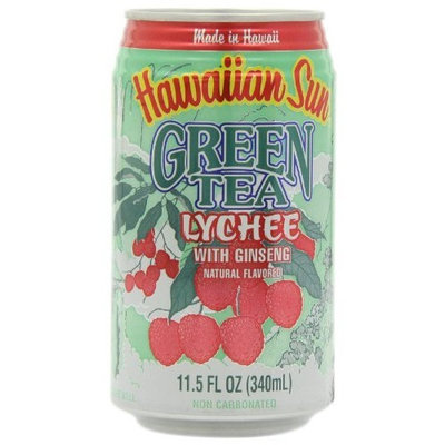 Hawaiian Sun Green Tea Lychee with Ginseng, 11.5-Ounce Cans (Pack of 24)
