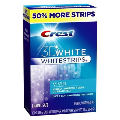 Crest 3d White Whitestrips Vivid - 15 Ct June/2012
