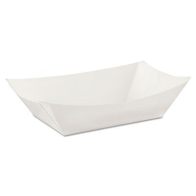 DIXIE KL300W8 Disposable Food Tray, White,3 lb, PK500