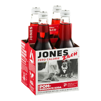 Jones Zilch Zero Calorie Soda Pomegranate - 4 CT