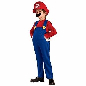 Rubies Costumes Super Mario Bros. Mario Deluxe Toddler Costume
