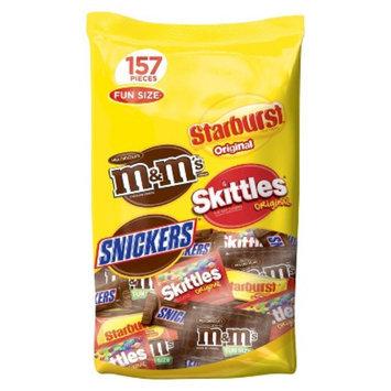 Masterfoods M&M's, Skittles & Starburst Fun Size Variety Bag 157 ct