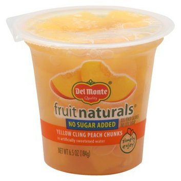 Del Monte Fruit Naturals No Sugar Added Yellow Cling Peach Chunks in