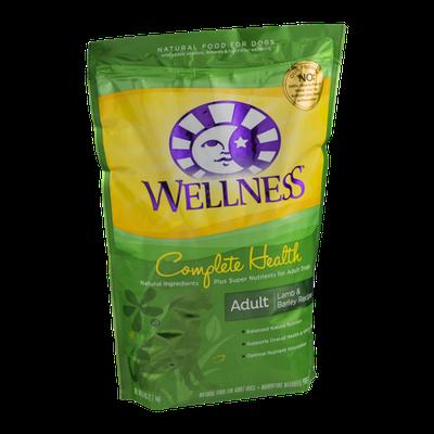 Wellness Complete Health Adult Dog Food Lamb & Barley