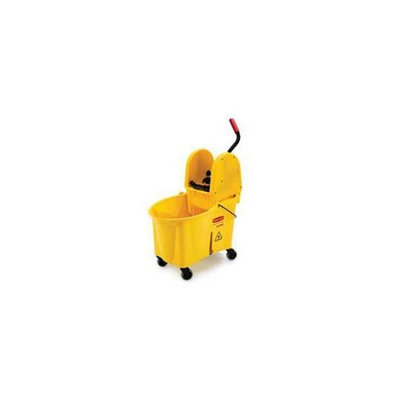 Rubbermaid Commercial Products RCP757688YW Mop Bucket Wringer- 44 Qt. - 17inchx24inchx38inch- Yellow