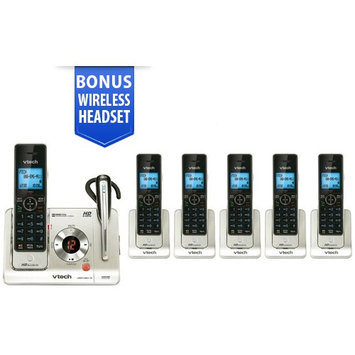 Vtech LS6475-3 + (4) LS6405 Cordless Answering System w/ Headset