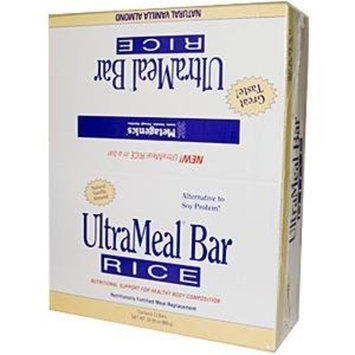 Metagenics, UltraMeal Bar Rice, Natural Vanilla Almond, 12 Bars