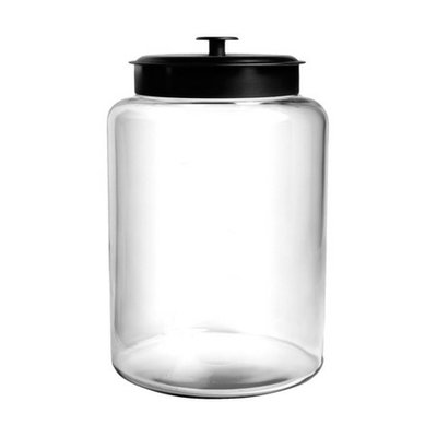 Anchor Hocking Montana Canister with Black Lid - 2.5 gal.