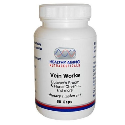 Healthy Aging Nutraceuticals Vein Works Butcher'S Broom & Horse Chesnut, And More 60 Caps