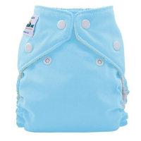 FuzziBunz Perfect Size Cloth Diaper, White, Large 25-40+ lbs