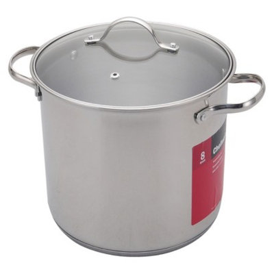 Chefmate CHEFMATE Silver 8QT S/S Stock Pot