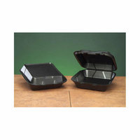 Genpak Snap-It Foam Hinged Carryout Medium Container in Black