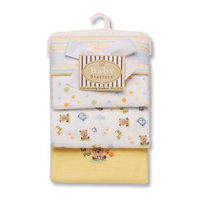 Baby Starters Lil Pal Receiving Blanket, Yellow, 4 Pack