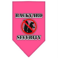 Mirage Pet Products Backyard Security Screen Print Bandana for Pets, Small, Bright Pink