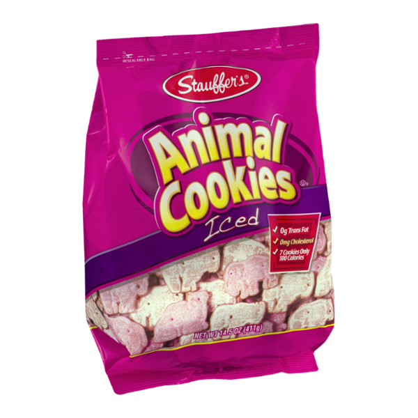 Stauffer's Animal Cookies Iced