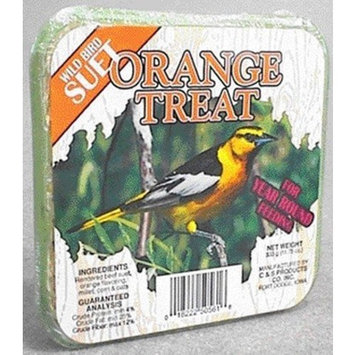 C And S Products Co Inc P C and s products 2450561 Orange Suet Wild Bird Treat (Case of 24)