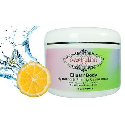 Sweetsation Therapy Ellasti*Body Organic Hydrating & Firming Caviar Butter, with Vitamins & Caviar Extract, 16oz