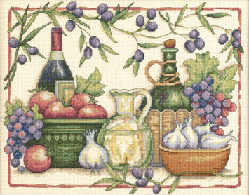 Other Dimensions Tuscan Flavors Counted Cross Stitch Kit