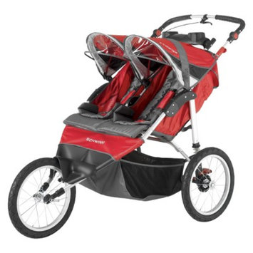 Schwinn Arrow Double Jogger - Red and Black