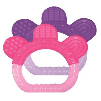 green sprouts 2 Pack Sili Paw Teether, Girl (Discontinued by Manufacturer)