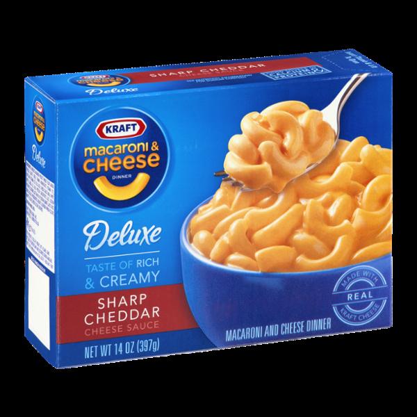 Kraft Deluxe Macaroni & Cheese Dinner Sharp Cheddar Cheese Sauce