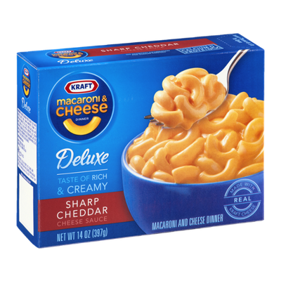 Kraft Deluxe Macaroni & Cheese Dinner Sharp Cheddar Cheese Sauce