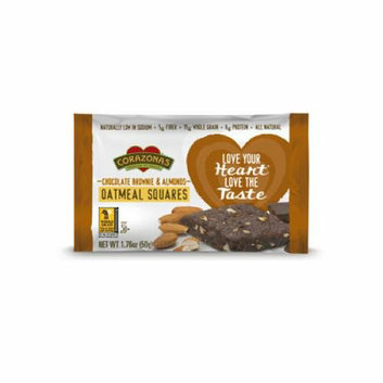 Corazonas Oatmeal Squares Chocolate Brownie and Almond Case of 12 1.76 oz