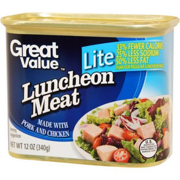 Wal-mart Stores, Inc. Great Value Lite Luncheon Meat, 12 oz