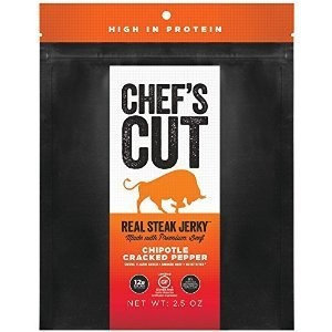 Chef's Cut JERKY, STEAK, CHPTL, CRK PEP, (Pack of 8)