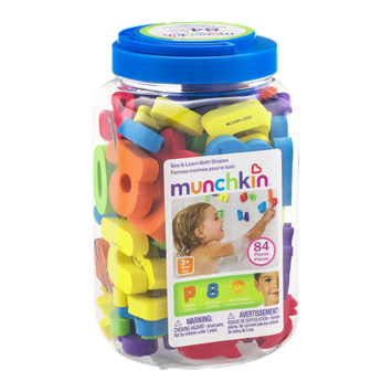 Munchkin Sea & Learn Bath Shapes - 84 CT