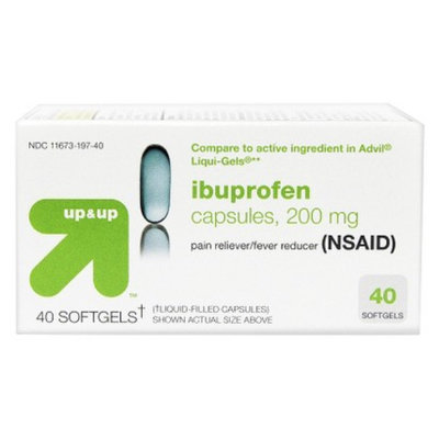 up & up up&up Ibuprofen Pain Reliever and Fever Reducer Sofgels - 40 Count