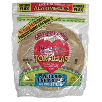 Joseph's Middle East Bakery Reduced Carb/Flax, Oat Bran & Whole Wheat Tortillas, 6 tortillas