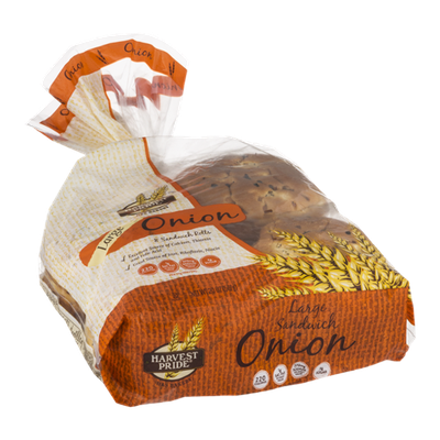 Harvest Pride Onion Sandwich Rolls Large - 8 CT