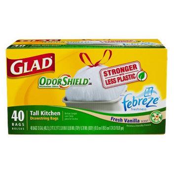 Glad Tall Kitchen Drawstring Odor Shield with Febreze Freshness Fresh Vanilla - School Supplies