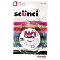 Scunci 1626503A048 Style No Damage Hair Elastics (3 Pack)