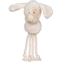 Planet Petco Plush Dog Head with Rope Dog Toy, 8 L X 2.25 W