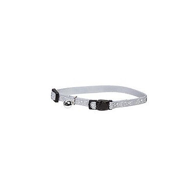 Petco Nylon Adjustable Reflective Night Sky Cat Collar in Silver, For Necks 8 -12